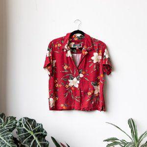 Vintage La Cabana Red Hawaiian Shirt